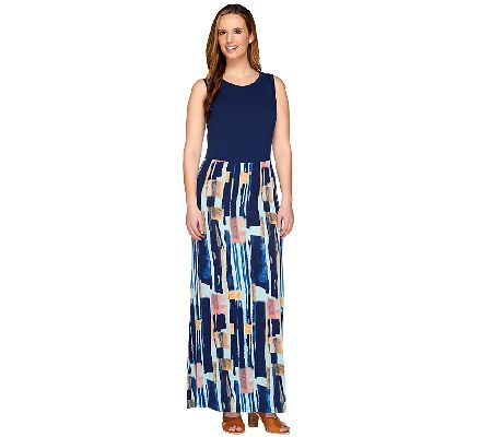 Lisa Rinna Collection Sleeveless Printed Maxi Dress