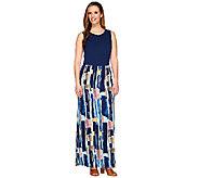 Lisa Rinna Collection Sleeveless Printed Maxi Dress - A264739