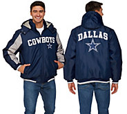 NFL Dallas Polyfill Jacket with Detachable Hood - A268239