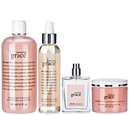 philosophy smooth, soft & scented 4pc fragrance collection - A270539