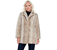 Dennis Basso Faux Fur Animal Print Blazer - A270639