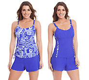 As Is Liz Claiborne New York 3-Pc Tankini and Shorts Swim Set - A271739