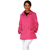 Susan Graver Mesh Trim Anorak Jacket with Hood - A274139