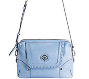 orYANY Pebble Leather Crossbody w/ Whipstitch Detail - Lacy - A277139