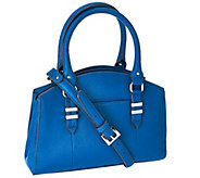 As Is Tignanello Saffiano Leather Domed Satchel - A279039