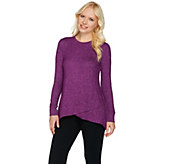 Cuddl Duds Sweater Knit Lounge Tulip Hem Tunic - A280239