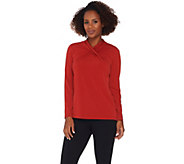 Susan Graver Liquid Knit Top with Twisted Neckline - A281139