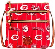 Dooney & Bourke MLB Nylon Reds Triple Zip Crossbody - A281539
