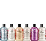philosophy happy holidays shower gel 6 piece collection - A282339