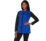 Denim & Co. Active Zip Front Stand Collar Jacket - A282439