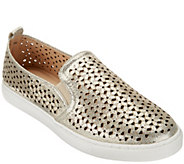 As Is Isaac Mizrahi Live! SOHO Leather Perforated Sneakers - A284539