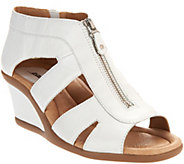 Earth Leather Zip-Up Wedges - Poppi - A289839