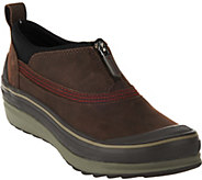 As Is Clarks Outdoor Waterproof Leather Booties - Muckers Ruck - A289939