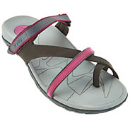 As Is Vionic Orthotic Leather Sport Sandals - Mojave - A290839