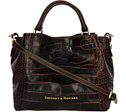 Dooney & Bourke Croco Embossed Leather Brenna Satchel - A293539