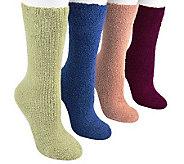 MUK LUKS Womens Micro Chenille Sock 4 Pair Pac k - A331039