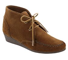 Minnetonka Chukka Wedge Lace Up Ankle Boots