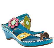 Spring Step LArtiste Leather Wedge Sandals - Belanus - A336039