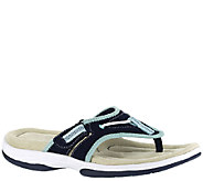 Easy Street Sport Suede Sport Thong Sandals - Surfer - A336539