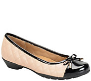 Softspots Leather Cap Toe Flats - Panola - A337939