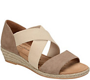 Comfortiva by Softspots Leather Wedge Sandals -Brye - A339839