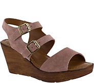 Bella Vita Leather Wedge Sandals - Ani-Italy - A363439