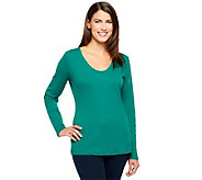 Liz Claiborne New York Essentials Long Sleeve Top - A235340