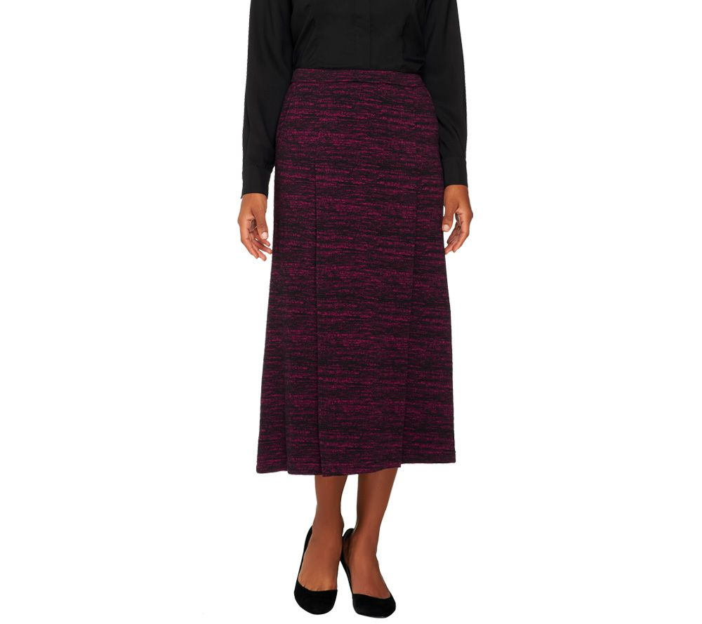 linea by louis dell olio regular marled knit maxi skirt