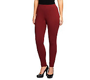 Liz Claiborne New York Petite Ponte Knit Pintuck Leggings - A237740