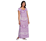Carole Hochman Loungewear Gown with Cap Sleeve - A240840