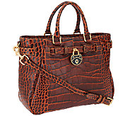 Dooney & Bourke Croco Fino Belted Shopper - A258240