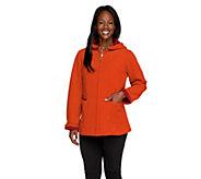 Susan Graver Bonded Fleece Zip Front Hooded Jacket - A258640