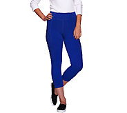 LOGO Lotus by Lori Goldstein Brushed Knit Pull-On Pants with Pockets - A266540