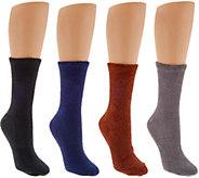 MUK LUKS 4 Pairs Aloe Vera Non-Slip Socks - A268640