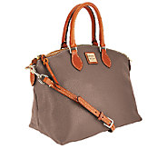 As Is Dooney & Bourke Pebble Leather Domed Satchel - A270940