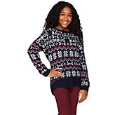 Aeropostale Bah Humbug Drop Shoulder Long Sleeve Holiday Sweater - A273940