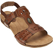 Earth Origins Leather T-strap Sandals with Backstrap - Trudy - A275140