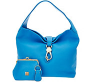 Dooney & Bourke Leather Hobo with Logo Lock and Accessories - A280440