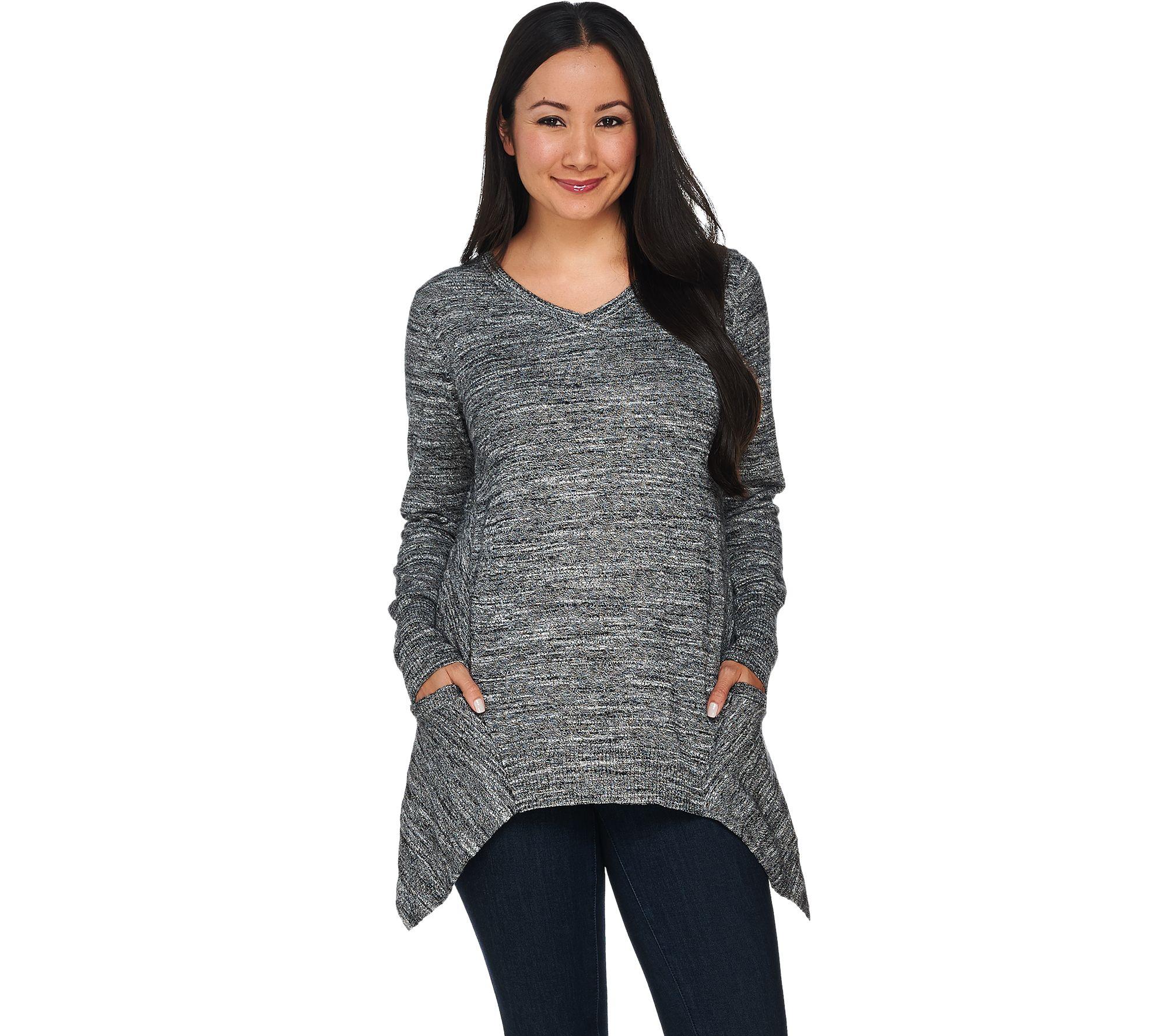 logo by lori goldstein melange cotton cashmere sweater. Black Bedroom Furniture Sets. Home Design Ideas
