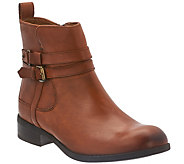 As Is Clarks Artisan Leather Waterproof Ankle Boots - Pita Austin - A283740