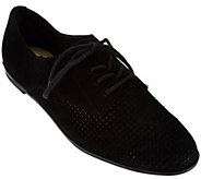 As Is Isaac Mizrahi Live! Perforated Leather or Suede Oxfords - A285240