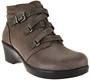 Alegria Leather Ankle Boots with Buckle - Indi - A285540
