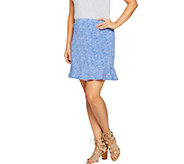 Susan Graver Weekend Stretch Cotton Modal Skort - A289440