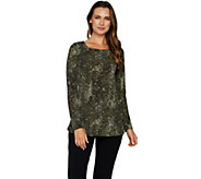Attitudes by Renee Printed Long Sleeve Ballerina Neck Tunic - A298540