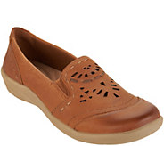 Earth Origins Leather Slip-on with Perforated Upper - Lorena - A303240