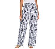 Denim & Co. Beach Pull-On Wide Leg Knit Pants - A305640