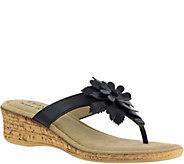 Tuscany by Easy Street Wedge Thong Sandals - Gilda - A356940