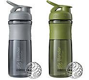 BlenderBottle Set of 2 SportMixer Grip Bottles - A359040