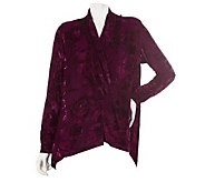 Burnout Velvet Scarf Jacket by VT Luxe - A218941