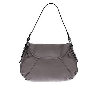 Maxx New York Pebble Leather Shoulder Bag with Zip Closure